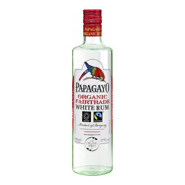 Papagayo White Rum 70 cl, Paraguay, Organic Fairtrade, Bio-Spirituosen