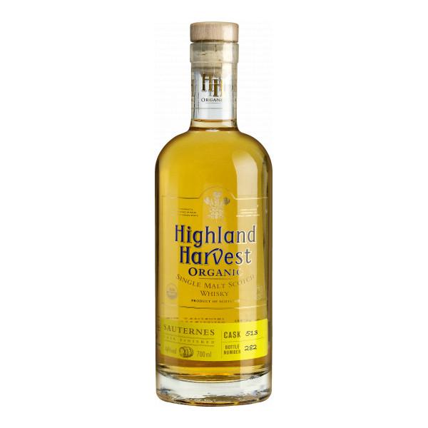 Highland Single Malt Whisky, 70 cl, Sauternes Cask Finished, Bio-Spirituosen