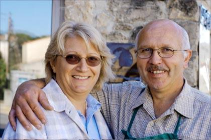 Marlène und Bernhard Delmas.