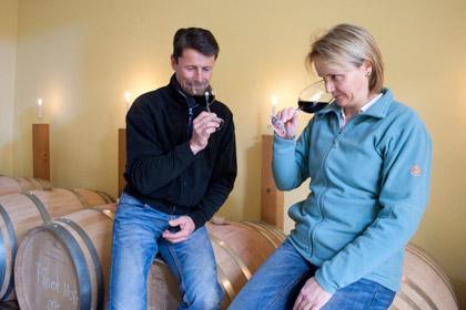 Roland und Karin Lenz sind nach einem Rückschlag aus Überzeugung zum biologischen Weinbau zurückgekehrt.