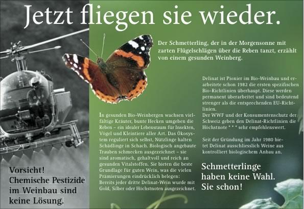 """""""Jetzt fliegen sie wieder"""": Diese Anzeige erschien bereits im Frühjahr 2007"""
