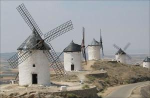 Windmühlen in der La Mancha