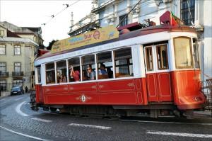 Tram in Lissabon