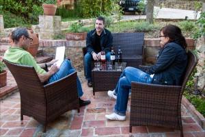 Weingut Conventino - im Garten