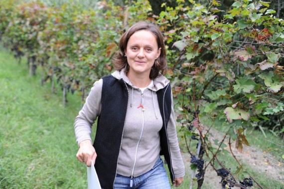 Winzerin Cecilia Zucca im Weinberg