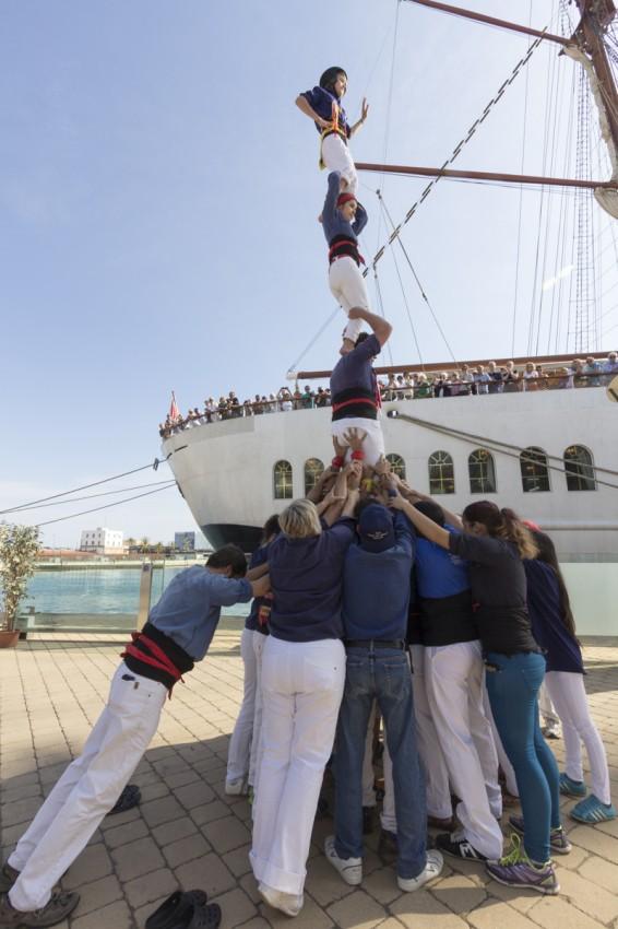 Castellers - eine Menschenpyramide