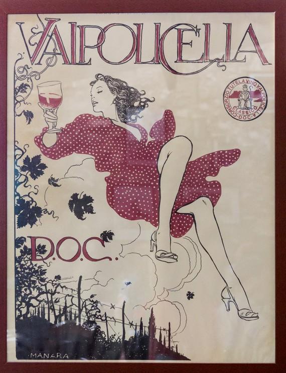 «La Donna Volante» warb einst für die Region Valpolicella.