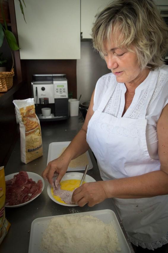 Hat ihr eigenes Rezept fürs Wiener Schnitzel: Annelies Michlits