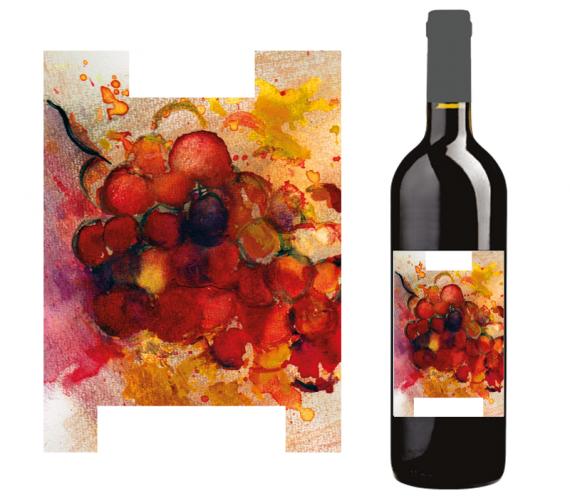 Rotwein-Etikette
