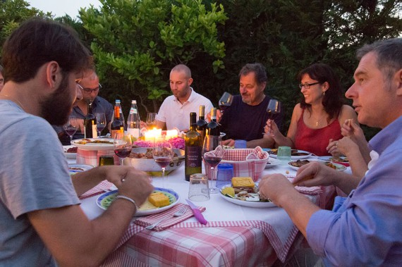 Nachtessen bei den Fasolis