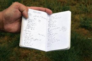 Das Notizbuch des Ornithologen: Jedes Detail wird festgehalten.