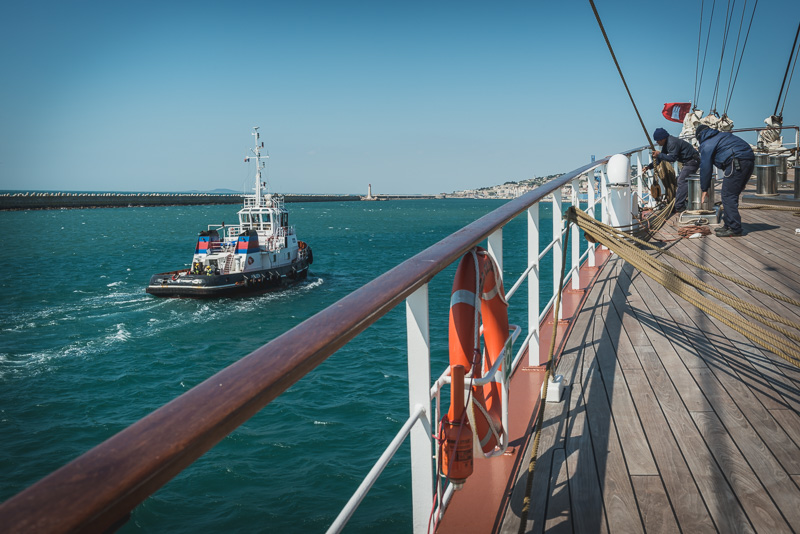 Die spektakuläre Hafeneinfahrt in Sète