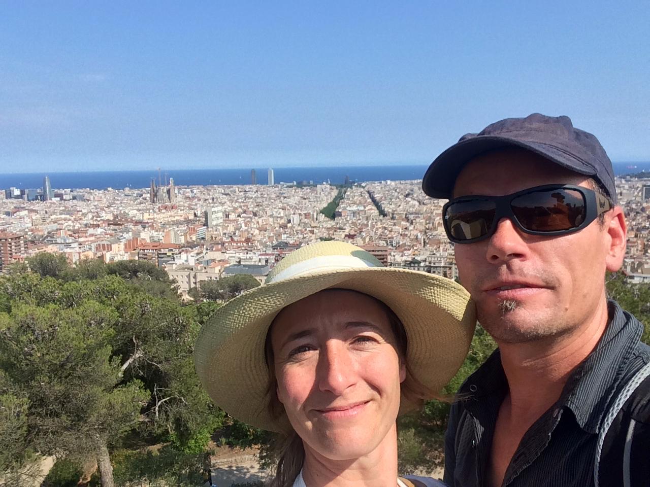 DIe Zimmermanns hoch über Barcelona