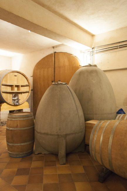 Weinkeller im Château Duvivier
