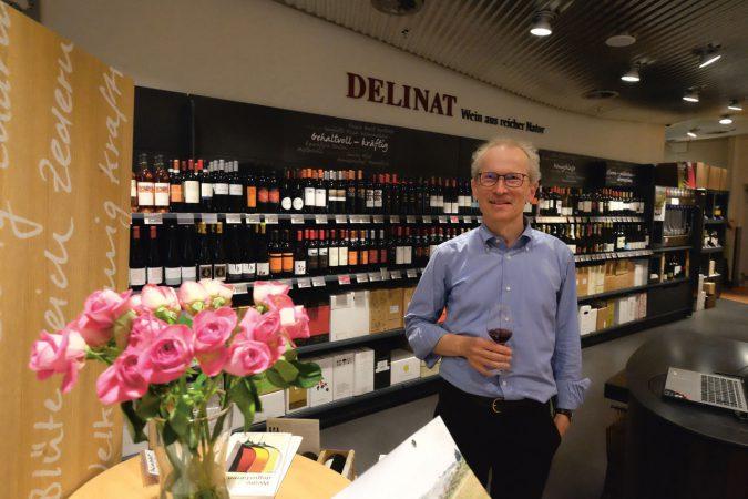 Kurt Gibel im Delinat-Shop Zürich City.