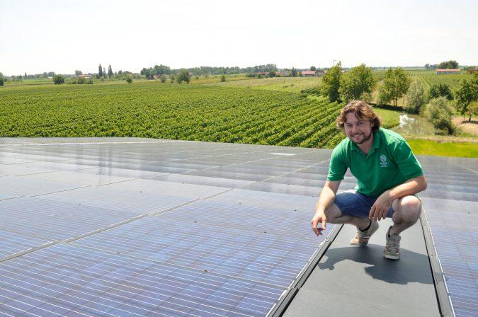 Solarstrom für Weingüter