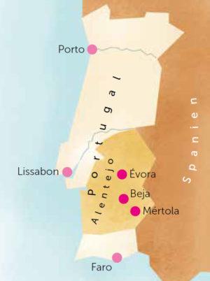 Karte von Portugal