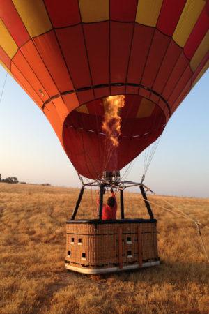 Fahrt mit dem Heissluftballon