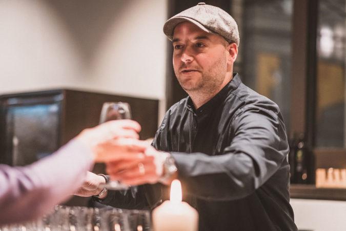 Oliver Hauser im neuen Delinat-Shop in Hamburg