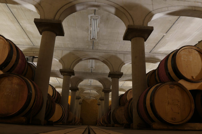 Weinkeller der Domaine de Beaurenard