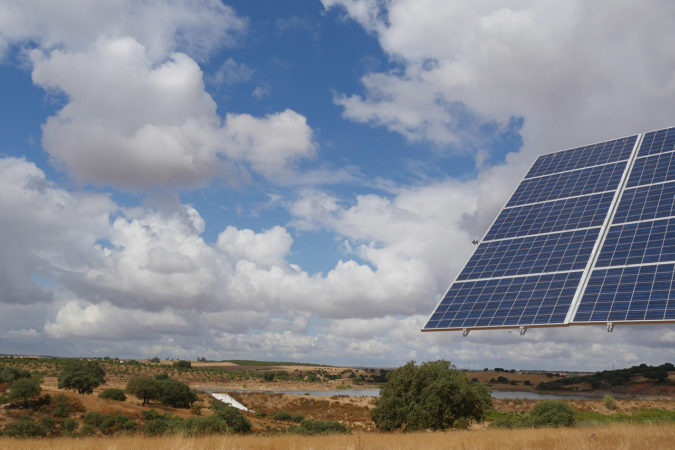 Photovoltaikanlage auf dem Weingut Vale de Camelos