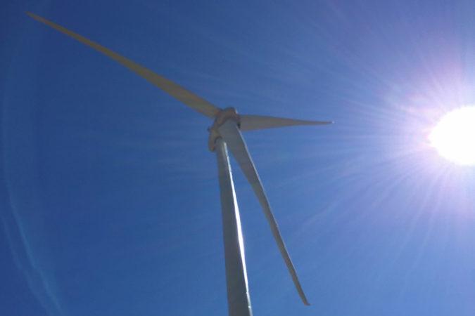 Windpark in der Nähe des Weinguts Albet i Noya