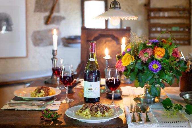 Die Weine der Domaine de Beaurenard sind hervorragende Essensbegleiter
