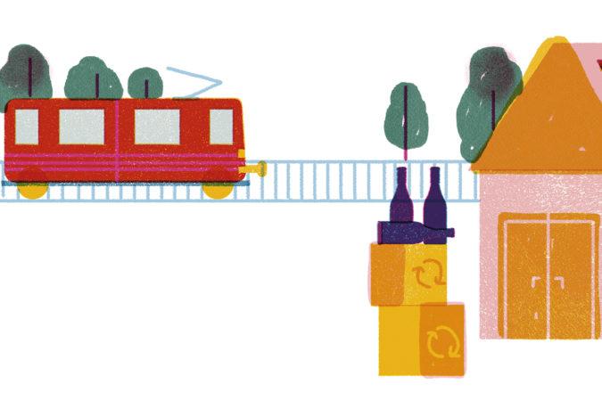 Einwandfreie Ökobilanz dank Transport auf der Schiene