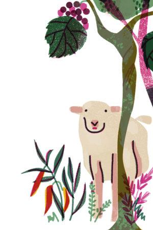 Der Weinberg der Zukunft wird von Schafen beweidet